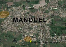 Opérations d'aménagement à Manduel dans le Gard