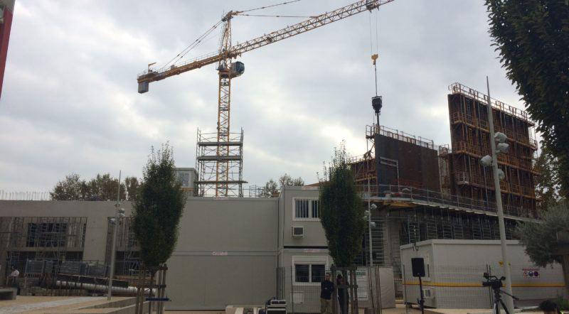 Cap cinéma en chantier à Nîmes par les géomètres Lesenne-Martinez