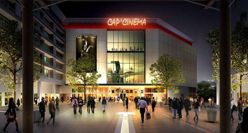 MULTIPLEXE « CAP CINEMA « QUARTIER DE LA GARE à NIMES